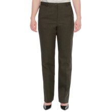 Pendleton Seasonless True Fit Trouser Pants - Wool (For Women) in Olive Mix - Closeouts