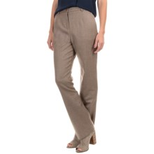 Pendleton Seasonless True Fit Trouser Pants - Wool (For Women) in Soft Brown Mix - Closeouts