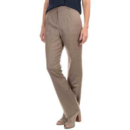 Pendleton Seasonless True Fit Trouser Pants - Wool (For Women) in Soft Brown Mix - Closeouts