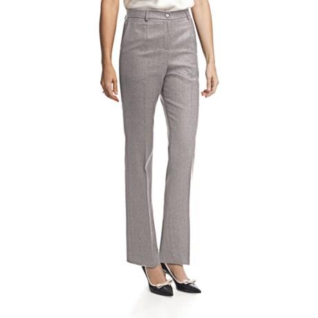 Pendleton Seasonless True Fit Trouser Pants - Wool (For Women) in Soft Grey Mix