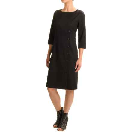 Pendleton Seasonless Wool Dress - Long Sleeve (For Women) in Black Gabardine - Closeouts