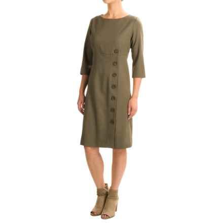Pendleton Seasonless Wool Dress - Long Sleeve (For Women) in Seagrass Gabardine - Closeouts