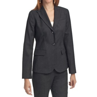 Pendleton Seasonless Wool Suit Jacket (For Women) in Charcoal
