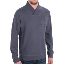 Pendleton Shawl Collar Board Pullover Sweater - Cotton (For Men) in Blue Heather - Closeouts