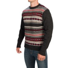 Pendleton Shetland Fair Isle Sweater - Shetland Wool (For Men) in Charcoal Multi - Closeouts