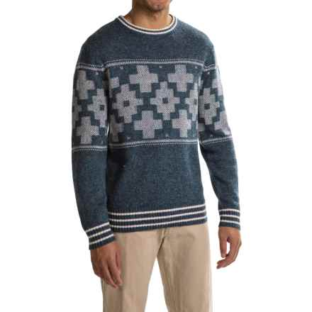 Pendleton Shetland Novelty Sweater - Crew Neck (For Men) in San Miguel Blue - Closeouts