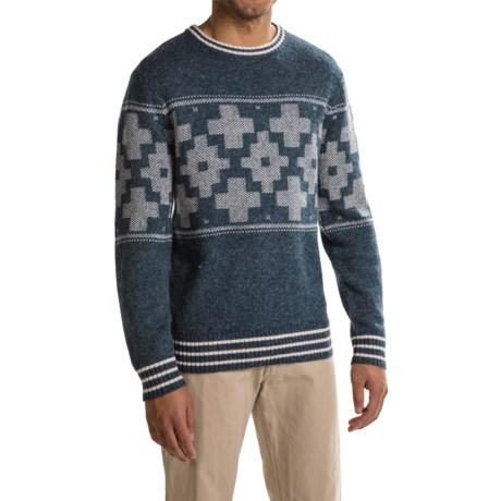 Pendleton Shetland Novelty Sweater - Crew Neck (For Men) in San Miguel Blue