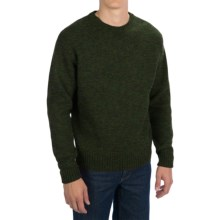 Pendleton Shetland Washable Wool Sweater - Crew Neck (For Men) in Evergreen/Black - Closeouts
