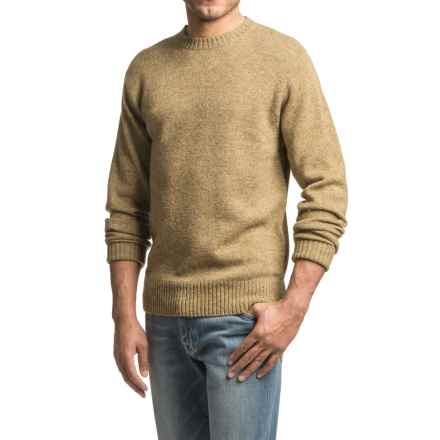 Pendleton Shetland Washable Wool Sweater - Crew Neck (For Men) in Tan Heather - Closeouts