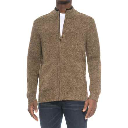Pendleton Shetland Wool Cardigan Sweater (For Men) in Coffee Heather - Closeouts
