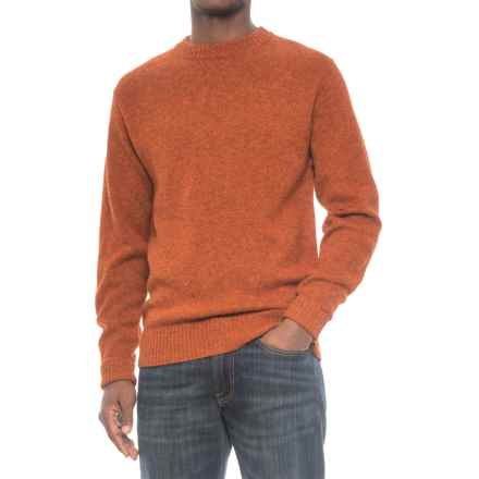 Pendleton Shetland Wool Sweater - Crew Neck (For Men) in Pumpkin Heather - Closeouts