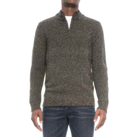 Pendleton Shetland Wool Sweater - Zip Neck (For Men) in Charcoal - Closeouts