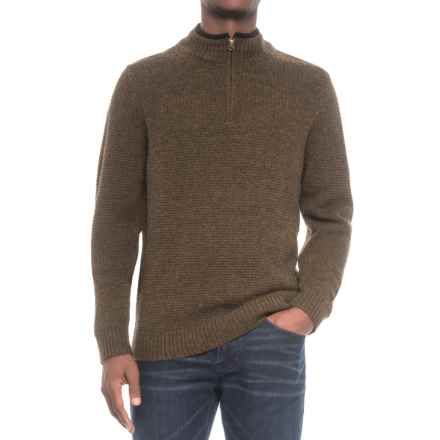Pendleton Shetland Wool Sweater - Zip Neck (For Men) in Smoked Brown - Closeouts