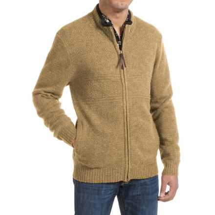 Pendleton Shetland Zip-Front Cardigan Sweater (For Men) in Tan Heather - Closeouts