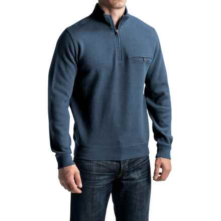 Pendleton Siletz Bay Sweater - Zip Neck (For Men) in Aqua Heather - Closeouts