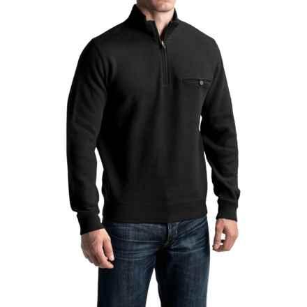 Pendleton Siletz Bay Sweater - Zip Neck (For Men) in Black - Closeouts