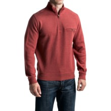 Pendleton Siletz Bay Sweater - Zip Neck (For Men) in Rusty Red Heather - Closeouts