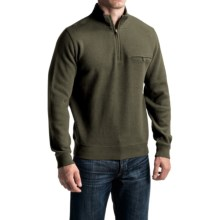 Pendleton Siletz Bay Sweater - Zip Neck (For Men) in Yakima Green Heather - Closeouts