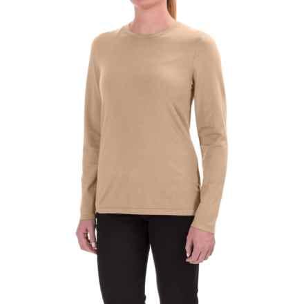 Pendleton Silk-Blend Shirt - Crew Neck, Long Sleeve (For Women) in Khaki - Closeouts