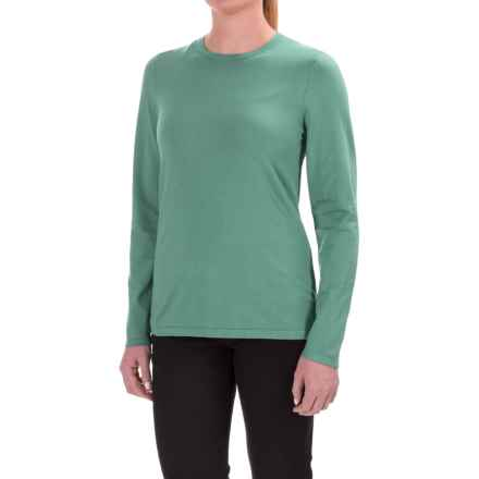 Pendleton Silk-Blend Shirt - Crew Neck, Long Sleeve (For Women) in Mint - Closeouts