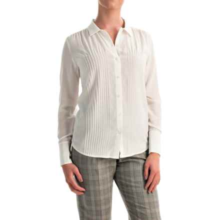 Pendleton Silk Pintuck Blouse - Long Sleeve (For Women) in Ivory - Closeouts