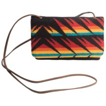 Pendleton Slim Wallet with Strap - Fabric and Leather (For Women) in Arrow Path Black - Closeouts