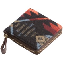 Pendleton Small Zip Wallet - Fabric and Leather (For Women) in Black - Closeouts