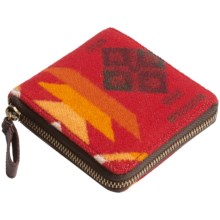 Pendleton Small Zip Wallet - Fabric and Leather (For Women) in Scarlet - Closeouts