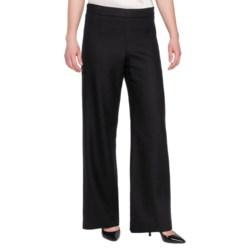 Pendleton Soft Leg Pants - Worsted Wool Crepe (For Women) in Black