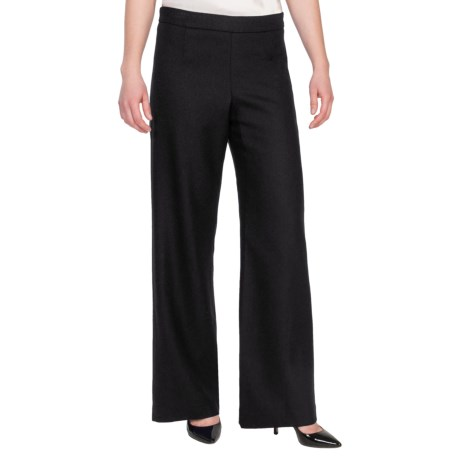 Pendleton Soft Leg Pants - Worsted Wool Crepe (For Women) in Black