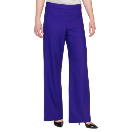 Pendleton Soft Leg Pants - Worsted Wool Crepe (For Women) in Purple