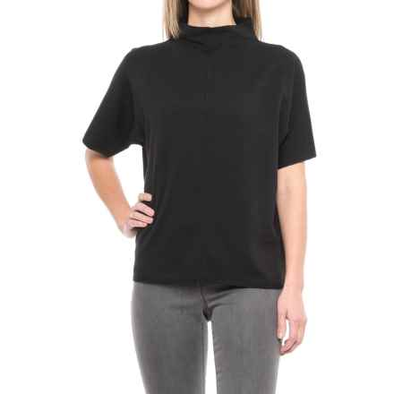 Pendleton Soft Mock Neck Sweater - Short Sleeve (For Women) in Black - Closeouts