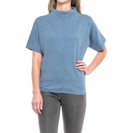 Pendleton Soft Mock Neck Sweater - Short Sleeve (For Women) in Coronet Blue - Closeouts