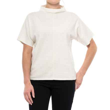 Pendleton Soft Mock Neck Sweater - Short Sleeve (For Women) in Marshmallow - Closeouts