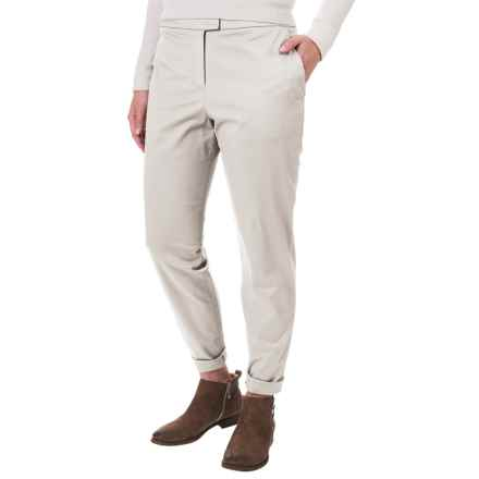 Pendleton Solid Woven Pants - Flat Front (For Women) in Ivory - Closeouts
