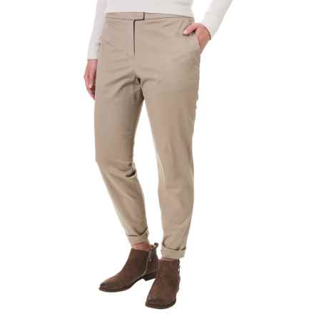 Pendleton Solid Woven Pants - Flat Front (For Women) in Khaki - Closeouts