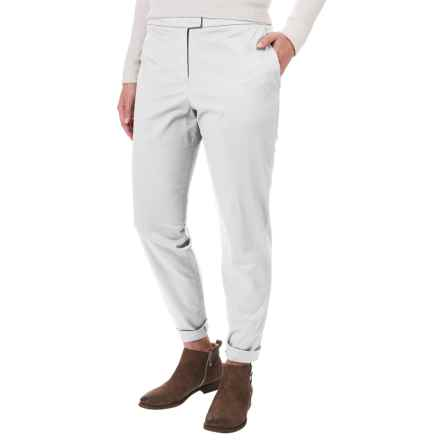 Pendleton Solid Woven Pants - Flat Front (For Women) in White - Closeouts