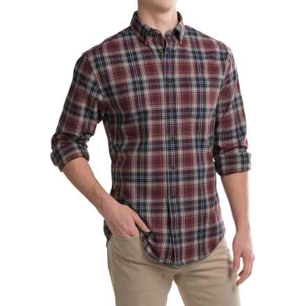 Pendleton Somerset Shirt - Long Sleeve (For Men) in Brown Burgundy Plaid - Closeouts