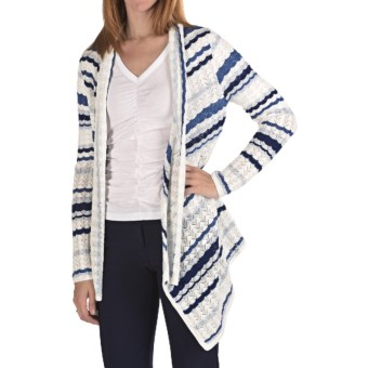Pendleton Southwest Stripe Cardigan Sweater - Cotton (For Women) in White