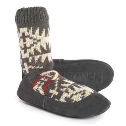 Pendleton Spider Rock Homestead Slippers (For Men and Women) in Charcoal - Closeouts