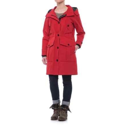 Pendleton Spokane Long Rain Jacket - Waterproof (For Women) in Red - Closeouts