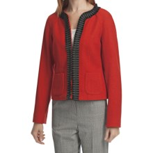 Pendleton Stewart Tartan Royal Ribbon Jacket - Boiled Wool (For Women) in Cherry Red - Closeouts