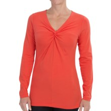 Pendleton Stretch Cotton Twist Top Shirt - Long Sleeve (For Women) in Poppy Red - Closeouts