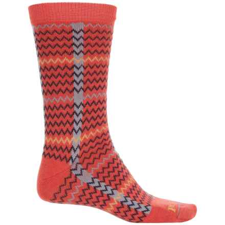 Pendleton Stretch-Nylon Socks - Crew (For Men and Women) in Coral - Closeouts