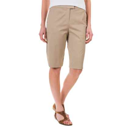 Pendleton Stretch Twill Bermuda Shorts (For Women) in Khaki - Closeouts