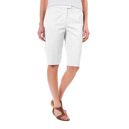 Pendleton Stretch Twill Bermuda Shorts (For Women) in White - Closeouts