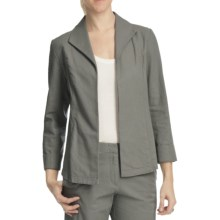 Pendleton Summer Day Linen-Rich Jacket (For Plus Size Women) in Cafe Grey - Closeouts