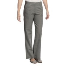 Pendleton Summer Day Linen-Rich Pants (For Plus Size Women) in Cafe Grey - Closeouts