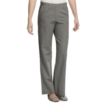 Pendleton Summer Day Linen-Rich Pants (For Plus Size Women) in Cafe Grey