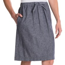 Pendleton Summer Linen-Cotton Skirt (For Women) in Indigo Weave - Closeouts